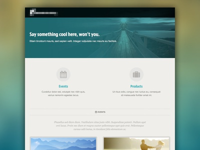 Events/Products website html css minimal flat