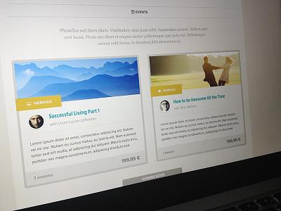 Events website minimal html css shop