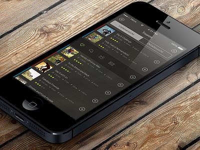 Tours iphone ios7 flat app outdoor