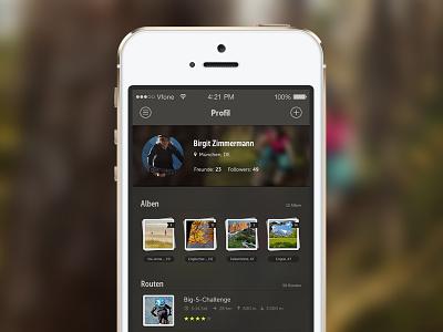 Profile iphone ios7 app outdoor