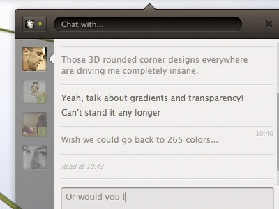 Simple Chat Client ui chat facebook brown lucida grande html css