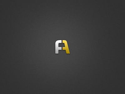 FA Logomark logo illustrator financial neo sans branding