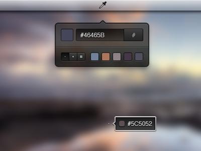 Color Picker Widget ui widget colors helvetica dark photoshop psd download