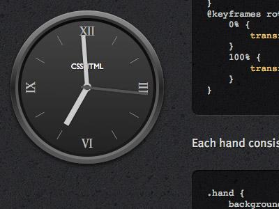 HTML/CSS Watch