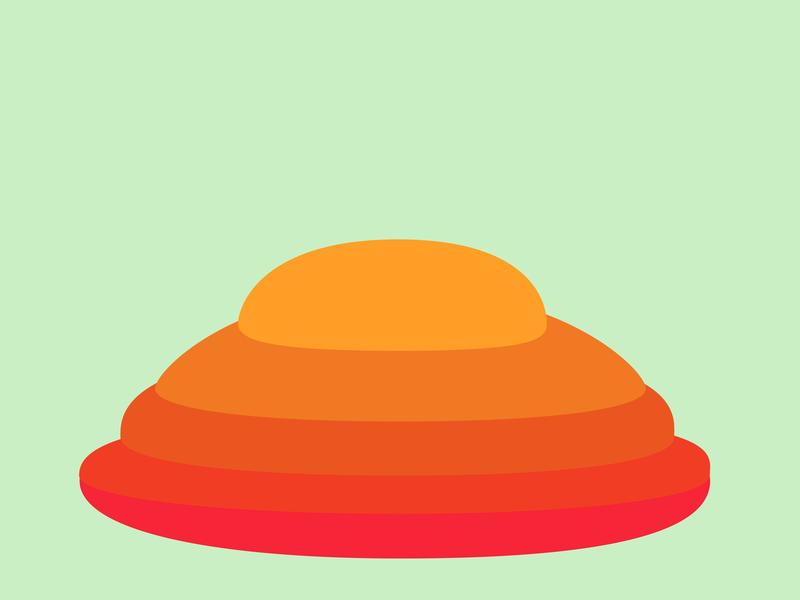 Melting colors egg hunt colorful illustration clean design