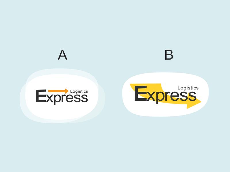 Express Logistics a or b logo site branding clean brand illustration vector logistics express design
