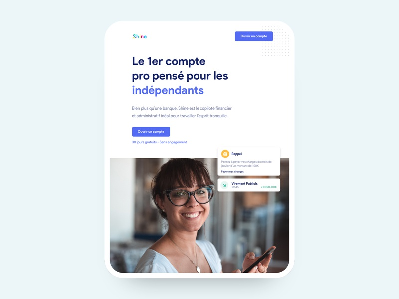 Shine app web design design online platform ui ux mobile ios android aipd air ipad pro ipad landing page one page onepage grid news about blog cooper cooper conceptual design clean minimal white clean minimal template