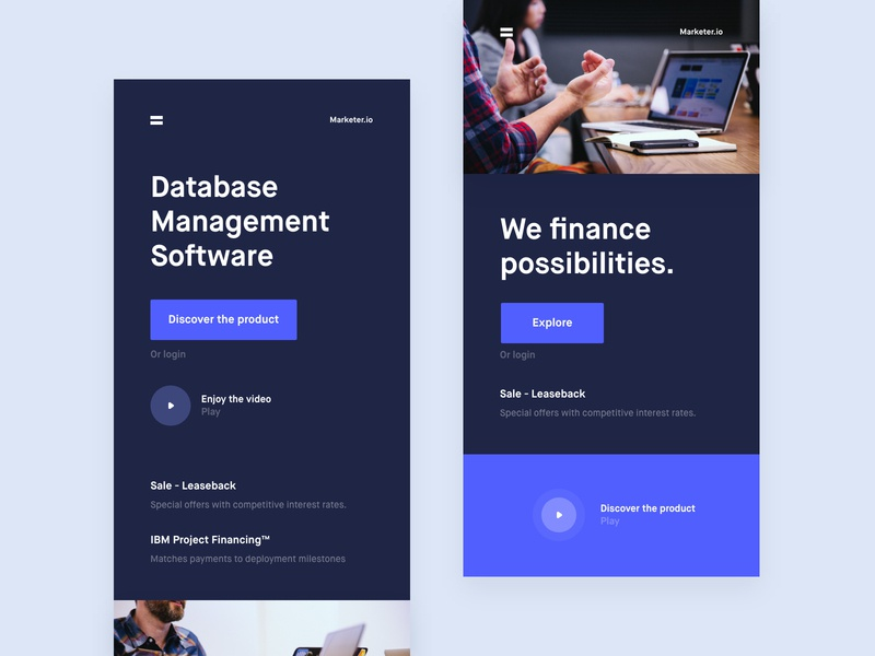 Database Management Software analytics chart mobile ios android app web design online platform ui ux landing page one page onepage conceptual design grid news about blog cooper  cooper clean minimal template