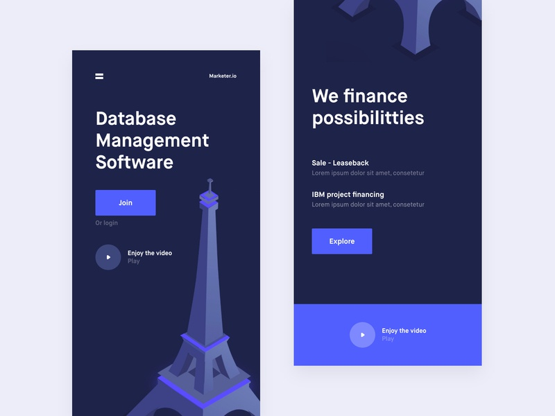Database Management Software V2 banking app analytics chart mobile ios android app web design online platform ui ux landing page one page onepage conceptual design grid news about blog clean minimal template cooper  cooper