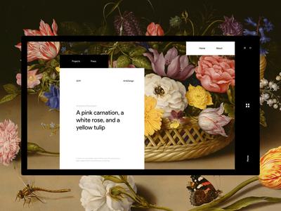 Art Blog Design Concept