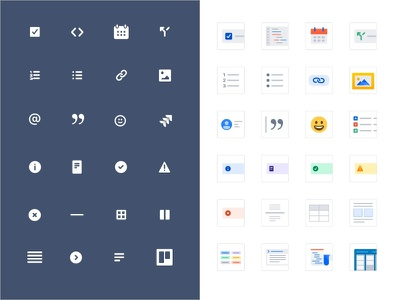 Awesome slash command ⚡️ typeahead uidesign uxui icon set iconography icon atlassian editor document productivity team