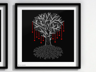 • Tenebrism - 6 Frail • 🌳🍎 digital art digitalart line art lineart drawing illustration inktober2019 inktober witchy enchanted mystical magical magic death tree fruits fruit tree of life trees tree
