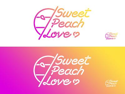 Sweet Peach Love brand sportswear illustrator sun fuschia jaune yellow logo dégradé gradient color love peach sweet