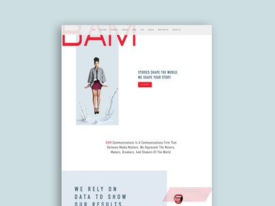 BAM  Communications design minimal branding web website website design webdesign brand identity