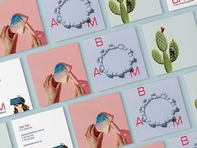 Bam Communications - Brand Identity minimalistic businesscard business card minimal logodesign logo design branding brand identity
