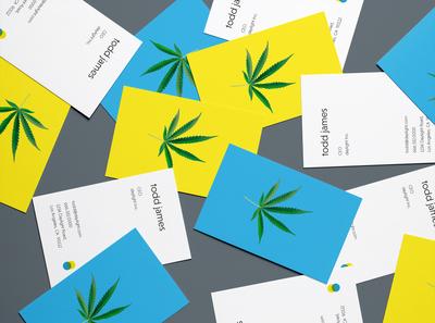 Daylight Cannabis logo minimal brand design businesscard business card minimalistic logodesign branding design brand identity