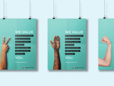 Poster design for Business for Good probono nonprofit designforgood poster posters print graphic design minimal poster design print design design