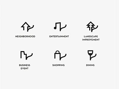 Custom Icons for RCIA custom brand style visual design designer brand system icon set iconography icon design icon icons branding design brand design minimalistic brand design logo minimal logodesign branding brand identity