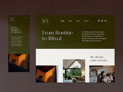 UX and UI Design for Ritual Architecture's New Website uxdesign ux design uiux uidesign ui design webdesign web website design web design website branding design brand branding ux ui design brand identity