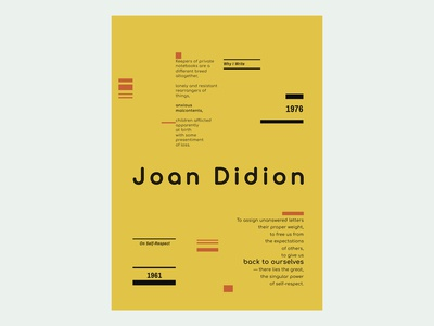 Joan Didion - Favorite Quotes - Poster / Wall Art