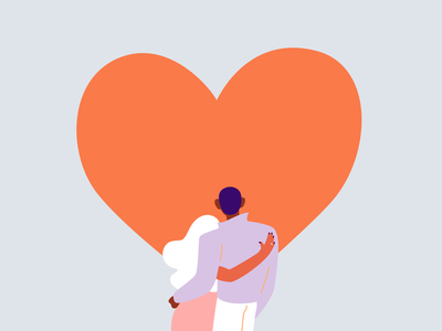 Love You So Much love couple heart valentines day valentines illustration