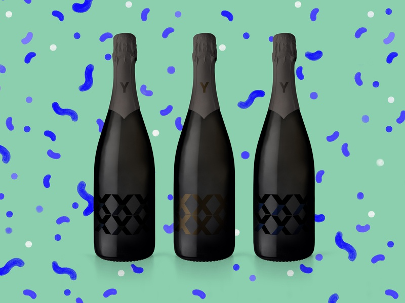 10-year Anniversary Champagne Bottle Concept anniversary bottle design