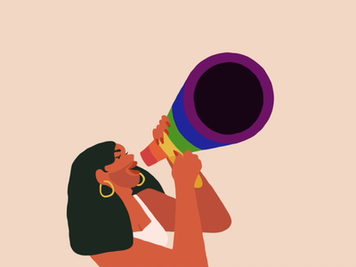 #Loud&Proud animation illustration lgbt rights are human rights