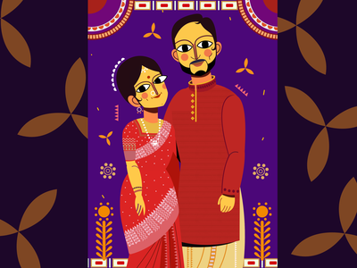Wedding Illustration for a couple