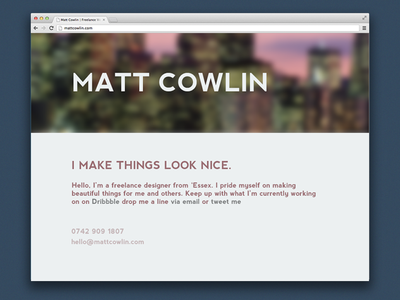 Mock up for my new home page website landing page web design clean
