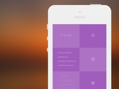Morning dashboard app prototype dashboard stats ui flat iphone app icons morning