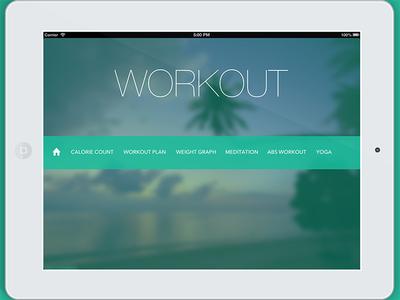 Workout Shot ipad app ui design