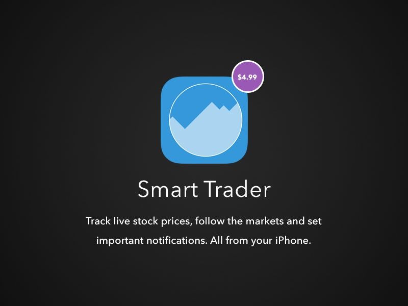 Smart Trader App - Branding ipad iphone charts graphs trading market stock icon design app ios