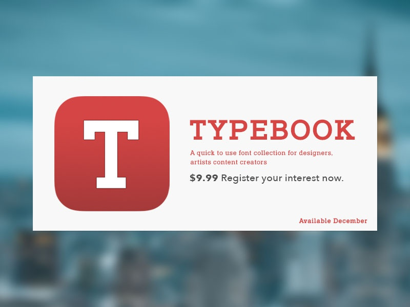 Typebook Branding designers artists icon lettering typography fonts design app ios