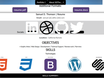 scrnsdtho branding ui web design design ux coder html5 css3 bootstrap4