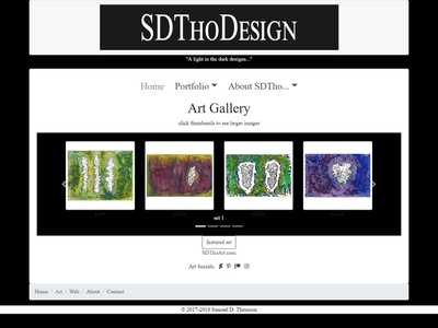 artport_update web designer web design ui portfolio mixed media bootstrap artwork artist art web design wip ux sdthoart sdtho html5 css3 coder bootstrap4