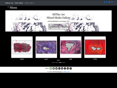 uxtho web designer ui portfolio wip design ux sdtho html5 css3 bootstrap4 coder bootstrap gallery art gallery abstract art minimal mixed media artwork artist art
