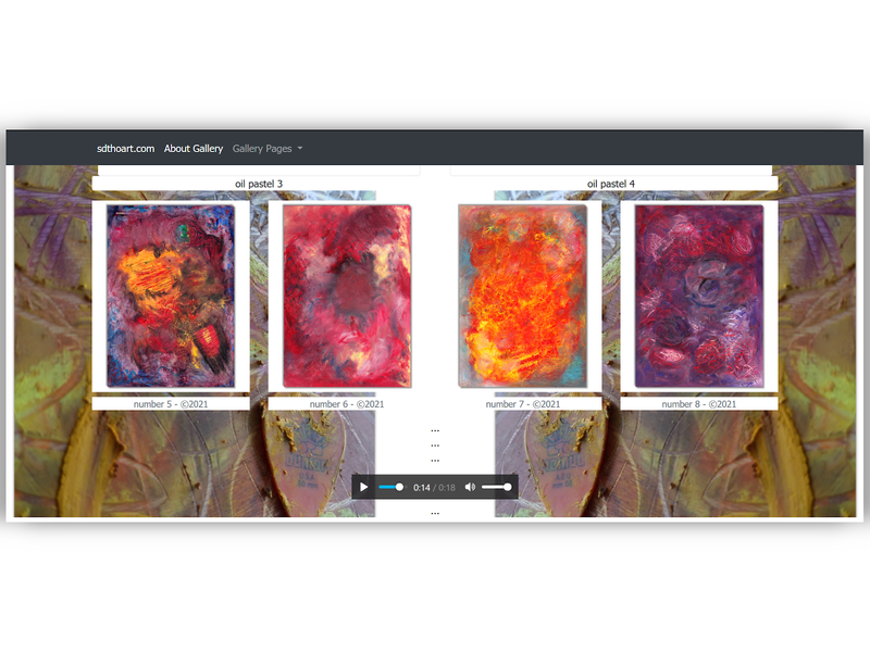 abstract art gallery page