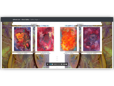 abstract art gallery page design artwork wip ux artist art coder html5 css3 bootstrap4