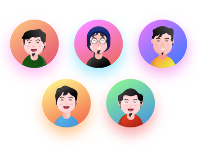 Pixelz Team head team face cartoon cute charactedesign design charachter avatar illustration