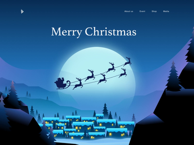 Merry Christmas new year holiday present gift north pole snow santa deer raindeer christmas merry christmas animation illustration