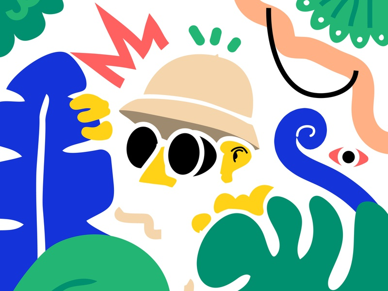Jungle digital illustration digitalart digital jungle illustrator illustration art graphic design illustration