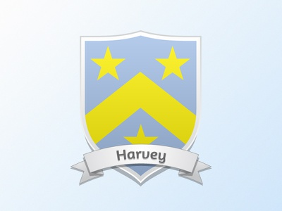 Current Coat of Arms · Harvey shield coat of arms banner wedding