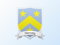 Current Coat of Arms · Harvey