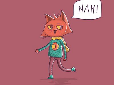 Foxy Cate design illustration