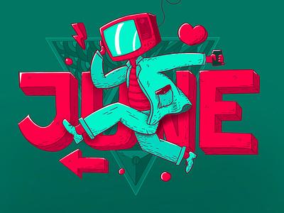 Jump Up character design illustration