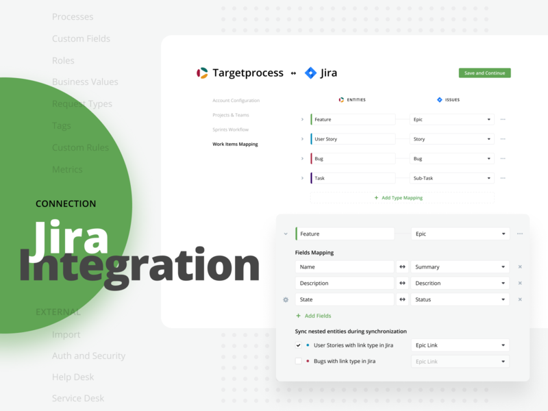 Jira Integration web settings integrations jira targetprocess