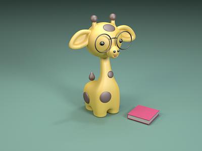 Giraffe character cinema4d design illustration giraffe 3d c4d