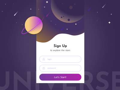 Sign Up Screen sign up daily 001 ui