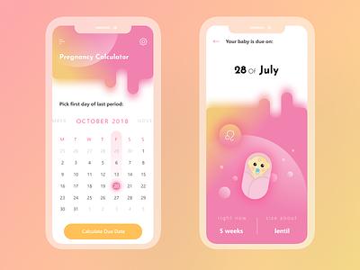 Pregnancy Calculator app daily 004 ui