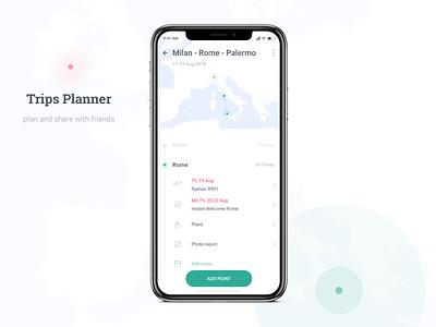 Location Tracker trip planner location tracker maps figma 020 dailyui